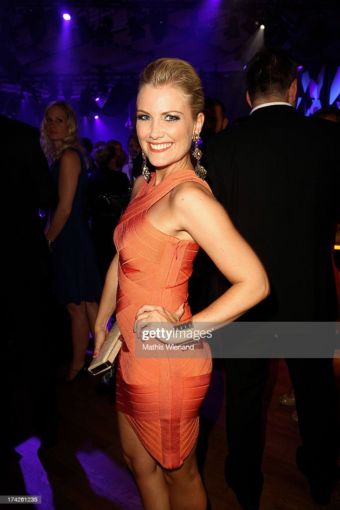 Jennifer Knaeble attends the New Faces Award Fashion 2013 at Rheinterrasse on July 22, 2013 in Duesseldorf, Germany.
