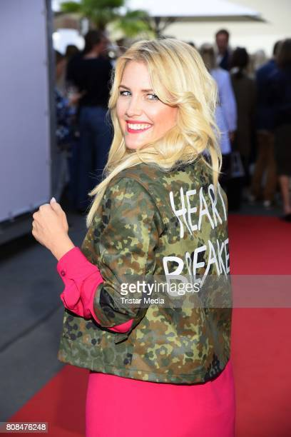 Jennifer Knaeble attends the Riani Fashion Show Spring/Summer 2018 at Umspannwerk Kreuzberg on July 4 2017 in Berlin Germany