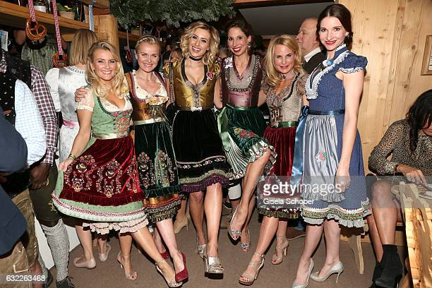 Jennifer Knaeble Barbara Sturm Verena Kerth dirndl designer Lola Paltinger Sonja Kiefer and Sophie Wepper wearing a dirndl by Lola Paltinger during...