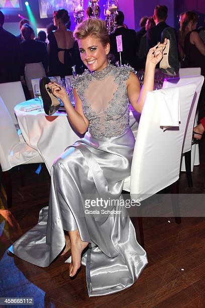 Jennifer Knaeble barefoot during the 33 Deutscher Sportpresseball German Sports Media Ball 2014 at Alte Oper on November 08 2014 in Frankfurt Germany