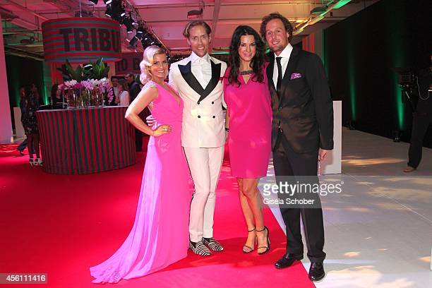 Jennifer Knaeble Jens Hilbert Mariella Ahrens and her boyfriend Marc Sebastian Esser arrive at Tribute To Bambi 2014 at Station on September 25 2014...