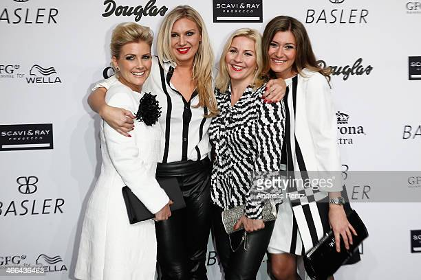 Jennifer Knaeble Magdalena Brzeska Aleksandra Bechtel and Sandra Thier attend the Basler fashion show on February 1 2014 in Dusseldorf Germany
