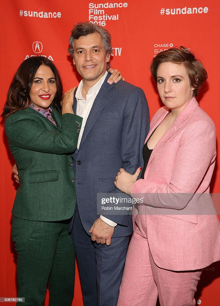 Jennifer Konner, director Jason Benjamin, and Lena Dunham attends the 'Suited' Premiere during the 2016 Sundance Film Festival at Temple Theater on January 25, 2016 in Park City, Utah.