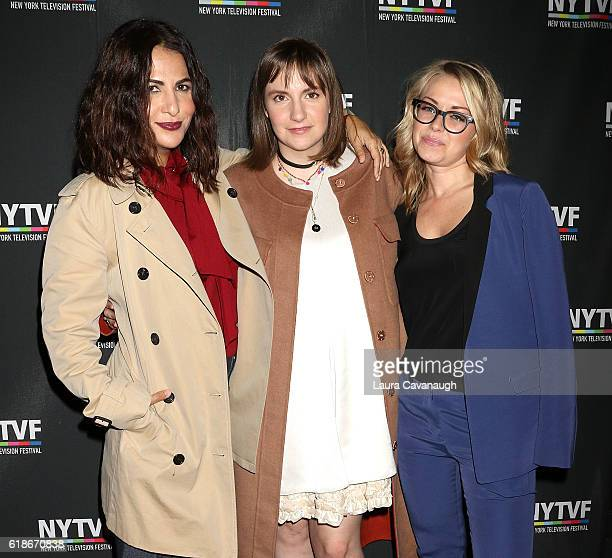 Jennifer Konner Lena Dunham and Kathleen McCaffrey attend 12th Annual New York Television Festival Creative Keynote A Conversation with 'Girls' at...