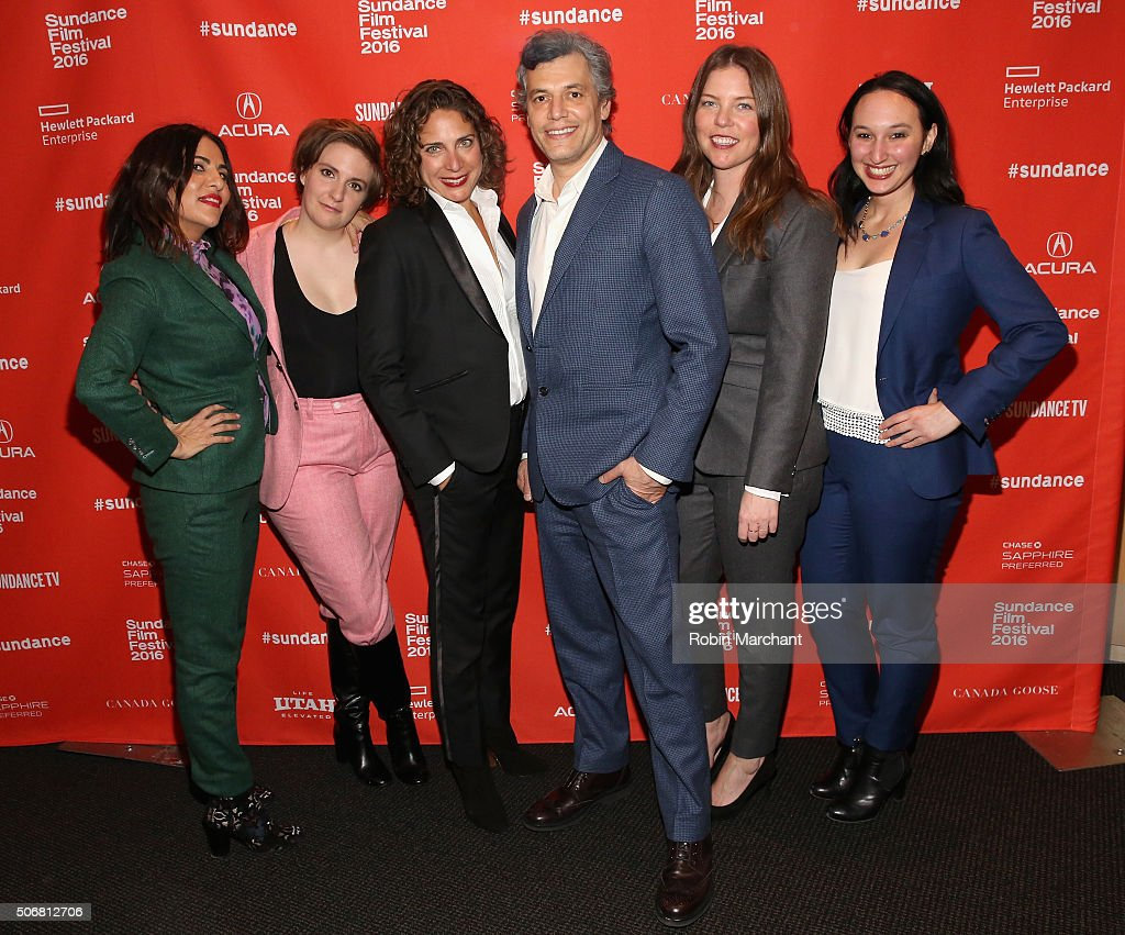 Jennifer Konner, Lena Dunham, Daniel Friedman, Lena Dunham, Jennifer Konner, Daphne Moked and Carly Hugo attend the 'Suited' Premiere during the 2016 Sundance Film Festival at Temple Theater on January 25, 2016 in Park City, Utah.