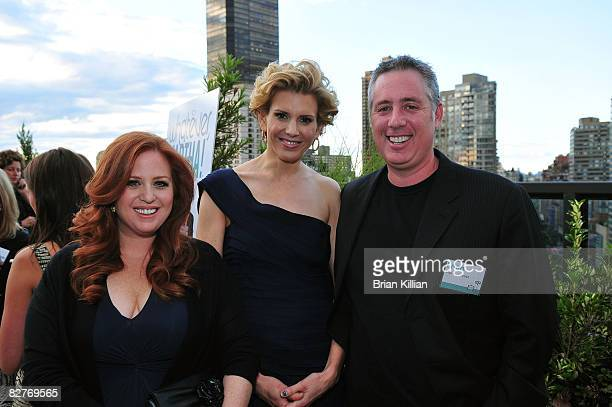 Jennifer Koppelman Hutt Alexis Stewart and Brian Koppelman attend the launch party for Whatever Martha at the Empire Hotel Roof Deck on September 10...