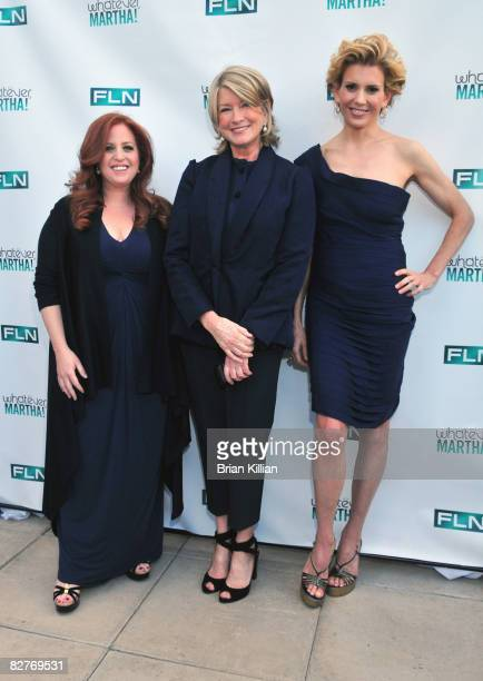 Jennifer Koppelman Hutt Martha Stewart and Alexis Stewart attend the launch party for Whatever Martha at the Empire Hotel Roof Deck on September 10...