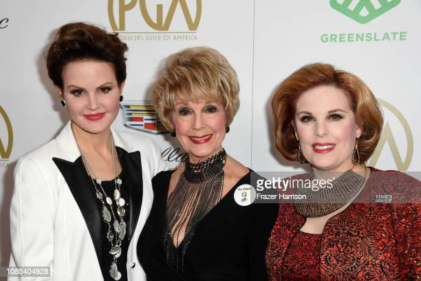 Jennifer Kramer Karen Sharpe and Kat Kramer attend the 30th annual Producers Guild Awards at The Beverly Hilton Hotel on January 19 2019 in Beverly...