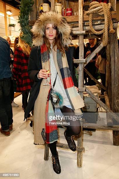 Jennifer Krueger attends the Woolrich Store Opening on November 25 2015 in Berlin Germany