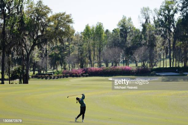 Jennifer Kupcho of the United States plays a shot on the 12th hole during the final round of the LPGA Drive On Championship at Golden Ocala Golf Club...