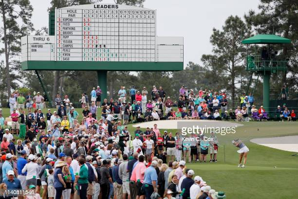 Jennifer Kupcho of the United States plays her shot form the third tee during the final round of the Augusta National Women's Amateur at Augusta...