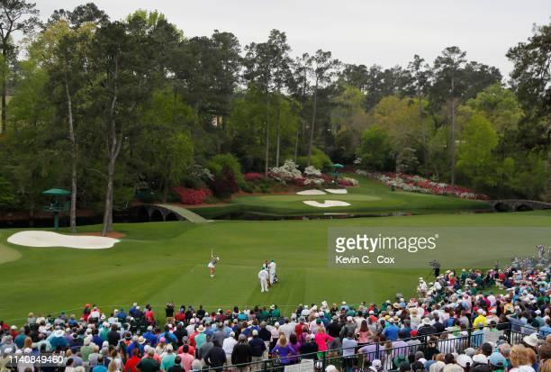 Jennifer Kupcho of the United States plays her shot from the 12th tee during the final round of the Augusta National Women's Amateur at Augusta...
