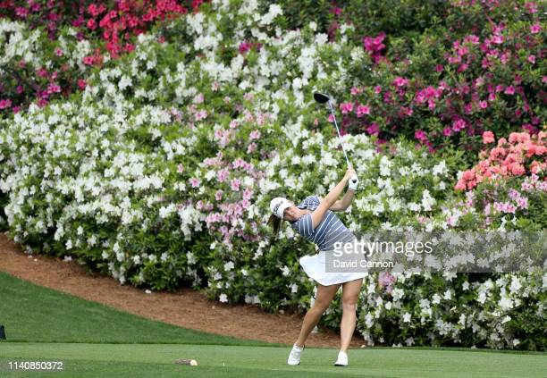 Jennifer Kupcho of the United States plays her tee shot on the par 5 13th hole the final round of the inaugural Augusta National Women's Amateur...