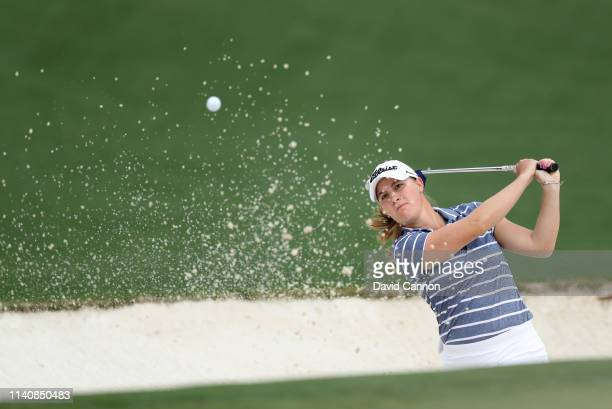 Jennifer Kupcho of the United States plays her third shot on the par 5 second hole during the final round of the inaugural Augusta National Women's...