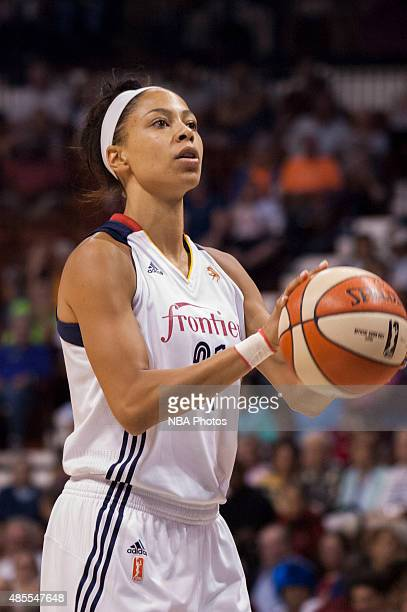 Jennifer Lacy of the Connecticut Sun takes a free throw during the game against the Connecticut Sun on August 27 2015 at the Mohegan Sun Arena in...