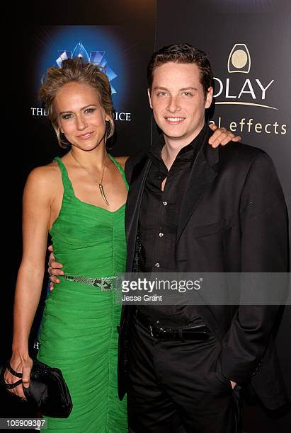 Jennifer Landon and Jesse Soffer during The 32nd Annual People's Choice Awards After Party at Shrine Auditorium in Los Angeles California United...