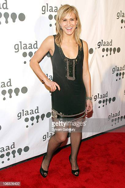 Jennifer Landon during 18th Annual GLAAD Media Awards New York Red Carpet at Marriott Marquis at 1535 Broadway at 45th Street in New York City New...
