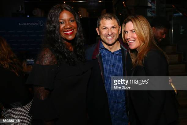 Jennifer Langton NFL VP of Health and Saftey Policy Benita Fitzgerald Mosley CEO of Laureus USA and Olympic Gold Medalist and Wayne Chrebet Former...