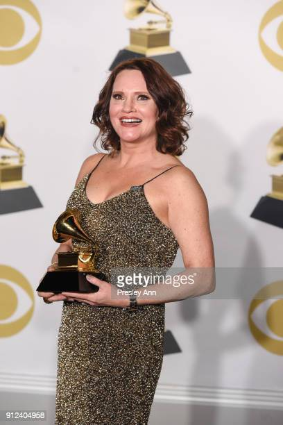 Jennifer Laura Thompson attends 60th Annual GRAMMY Awards - Press Room at Madison Square Garden on January 28, 2018 in New York City.
