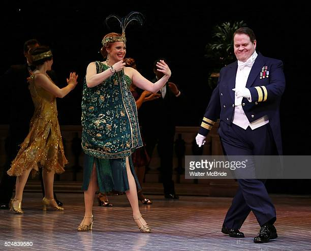 Jennifer Laura Thompson John Treacy Egan during the Curtain Call for 'Nice Work If You Can Get It' as the company welcomes Jessie Mueller John Treacy...