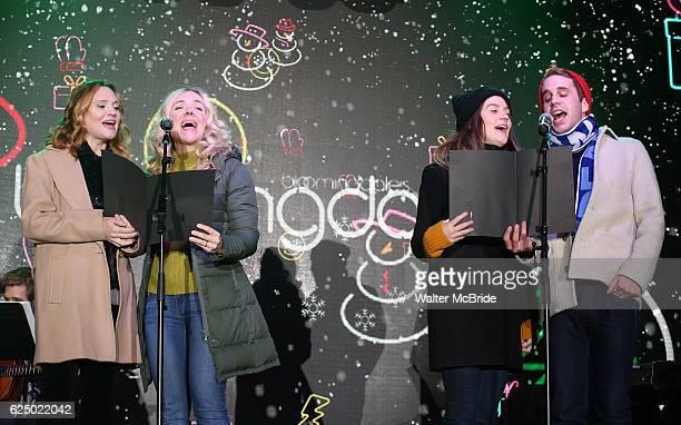 Jennifer Laura Thompson Rachel Bay Jones Laura Dreyfuss and Ben Platt from the new Broadway Musical 'Dear Evan Hansen' perform during the 2016...