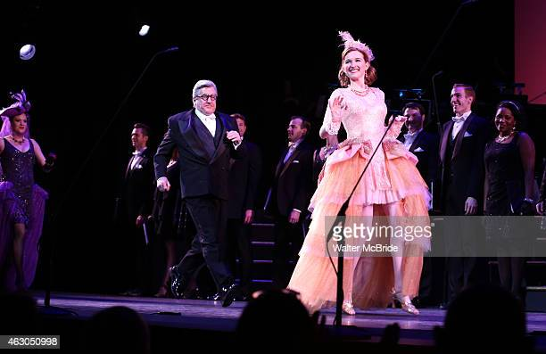 Jennifer Laura Thompson Richard Poe and Erin Mackey and cast during the final performance Curtain Call of the New York City Center Encores production...