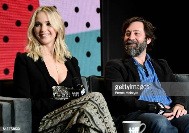 Jennifer Lawrence and Ari Handel at the 'mother' press conference during the 2017 Toronto International Film Festival held at TIFF Bell Lightbox on...