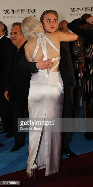 Jennifer Lawrence and Ben Hardy attend a Global Fan Screening of 'XMen Apocalypse' at the BFI IMAX on May 9 2016 in London England