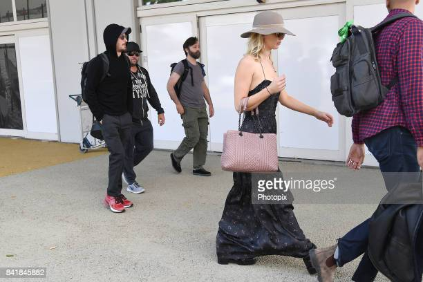 Jennifer Lawrence and Darren Aronofsky are seen arriving at Venice Airport during the 74th Venice Film Festival on September 2 2017 in Venice Italy