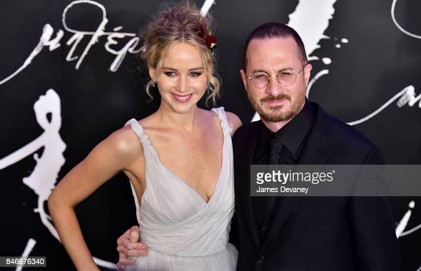 Jennifer Lawrence and Darren Aronofsky attend 'mother' New York premiere at Radio City Music Hall on September 13 2017 in New York City