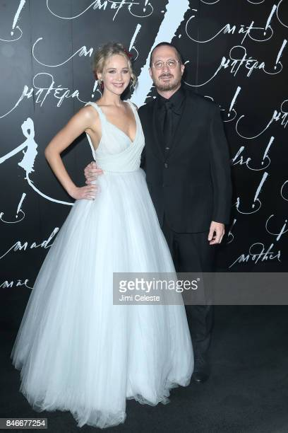 Jennifer Lawrence and Darren Aronofsky attend The New York premeire of mother at Radio City Music Hall on September 13 2017 in New York City