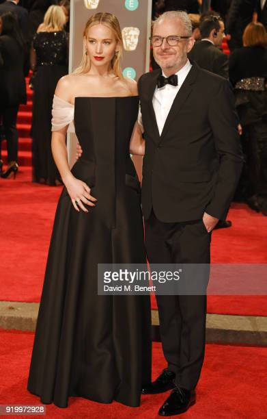Jennifer Lawrence and Francis Lawrence attend the EE British Academy Film Awards held at Royal Albert Hall on February 18 2018 in London England