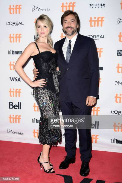 Jennifer Lawrence and Javier Bardem attend the 2017 Toronto International Film Festival premiere of 'mother' at Princess of Wales Theatre on...