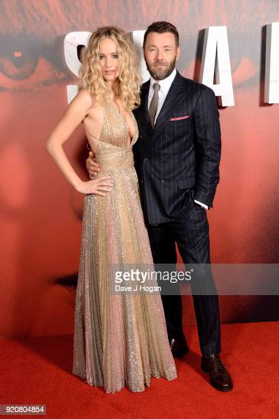 Jennifer Lawrence and Joel Edgerton attend the European Premiere of 'Red Sparrow' at Vue West End on February 19 2018 in London England