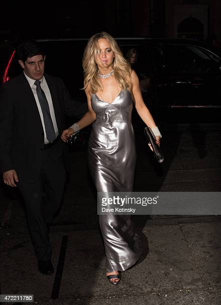Jennifer Lawrence arrives at Rihanna's Private Met Gala After Party at Up Down on May 4 2015 in New York City