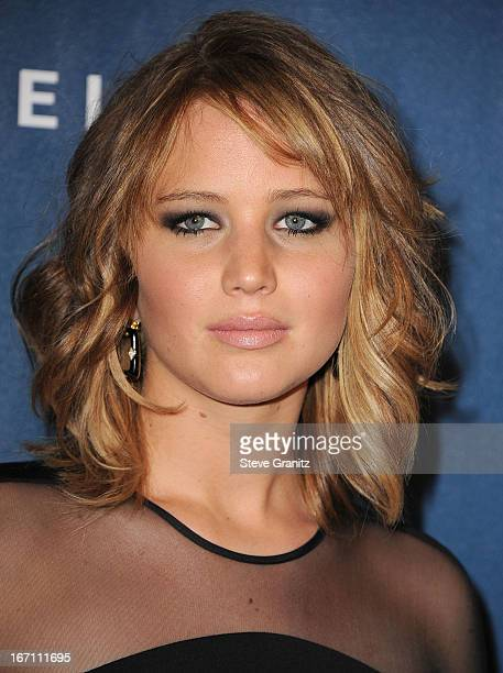Jennifer Lawrence arrives at the 24th Annual GLAAD Media Awards at JW Marriott Los Angeles at LA LIVE on April 20 2013 in Los Angeles California
