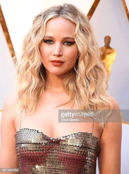 Jennifer Lawrence arrives at the 90th Annual Academy Awards at Hollywood & Highland Center on March 4, 2018 in Hollywood, California.