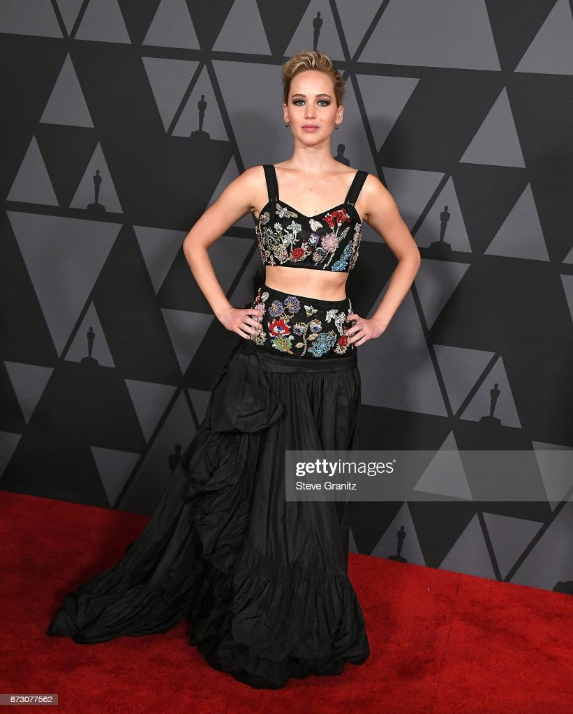 Jennifer Lawrence arrives at the Academy Of Motion Picture Arts And Sciences' 9th Annual Governors Awards at The Ray Dolby Ballroom at Hollywood & Highland Center on November 11, 2017 in Hollywood, California.