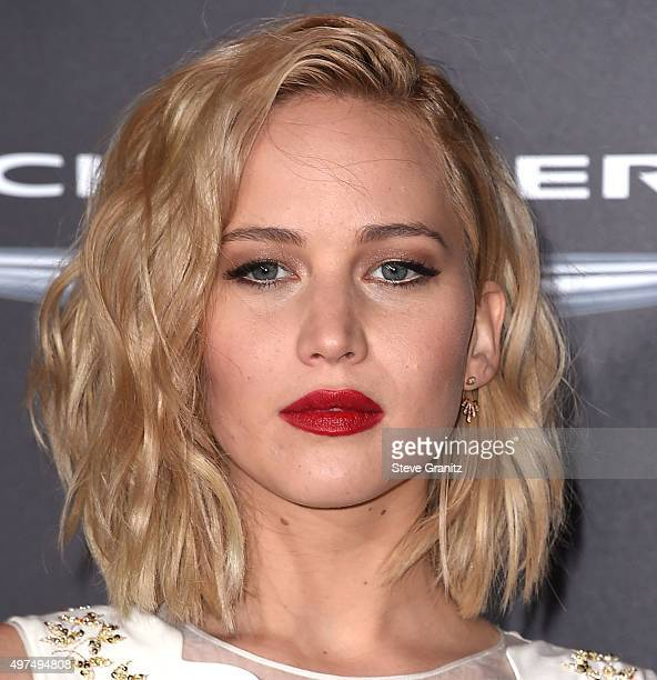 """Jennifer Lawrence arrives at the Premiere Of Lionsgate's """"The Hunger Games: Mockingjay - Part 2"""" at Microsoft Theater on November 16, 2015 in Los..."""