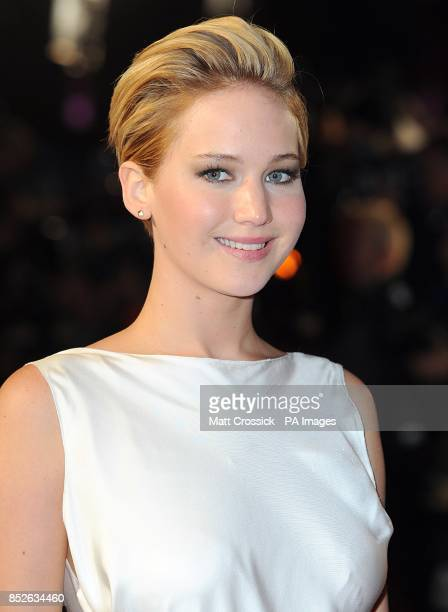Jennifer Lawrence arriving for the World Premiere of The Hunger Games Catching Fire at the Odeon Leicester Square London