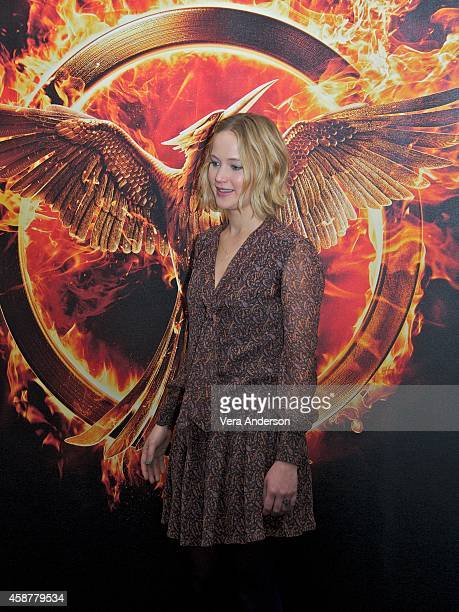 """Jennifer Lawrence at """"The Hunger Games: Mockingjay Part 1"""" Press Conference at Corinthia Hotel on November 10, 2014 in London, England."""