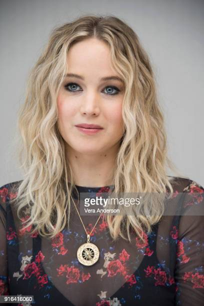 Jennifer Lawrence at the 'Red Sparrow' Press Conference at the London Hotel on February 9 2018 in West Hollywood California