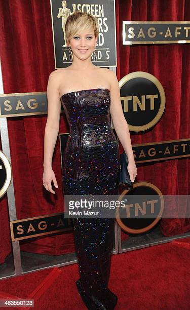Jennifer Lawrence attends 20th Annual Screen Actors Guild Awards at The Shrine Auditorium on January 18, 2014 in Los Angeles, California.