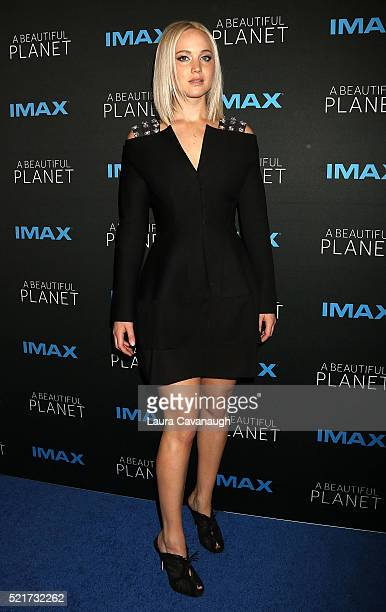 Jennifer Lawrence attends 'A Beautiful Planet' New York Premiere at AMC Loews Lincoln Square on April 16 2016 in New York City