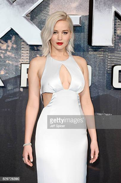 "Jennifer Lawrence attends a Global Fan Screening of ""X-Men Apocalypse"" at BFI IMAX on May 9, 2016 in London, England."