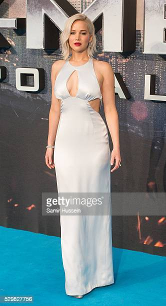Jennifer Lawrence attends a Global Fan Screening of XMen Apocalypse at BFI IMAX on May 9 2016 in London England