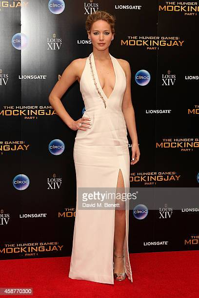 """Jennifer Lawrence attends an after party following the World Premiere of """"The Hunger Games: Mockingjay Part 1"""" at Victoria House on November 10, 2014..."""