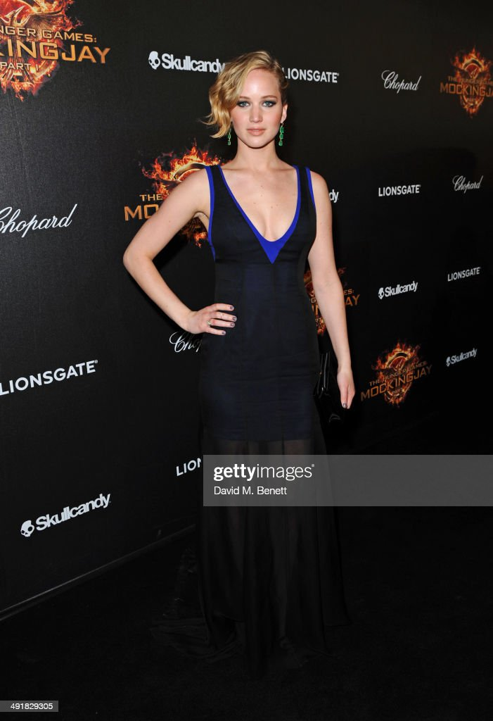 Jennifer Lawrence attends Lionsgate's 'The Hunger Games: Mockingjay Part 1' party at a private villa on May 17, 2014 in Cannes, France.