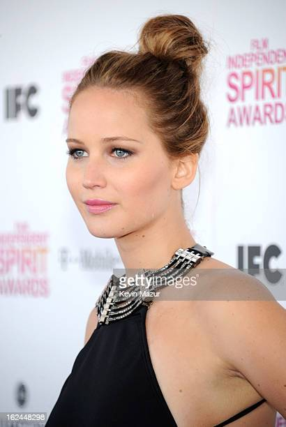 Jennifer Lawrence attends the 2013 Film Independent Spirit Awards at Santa Monica Beach on February 23, 2013 in Santa Monica, California.