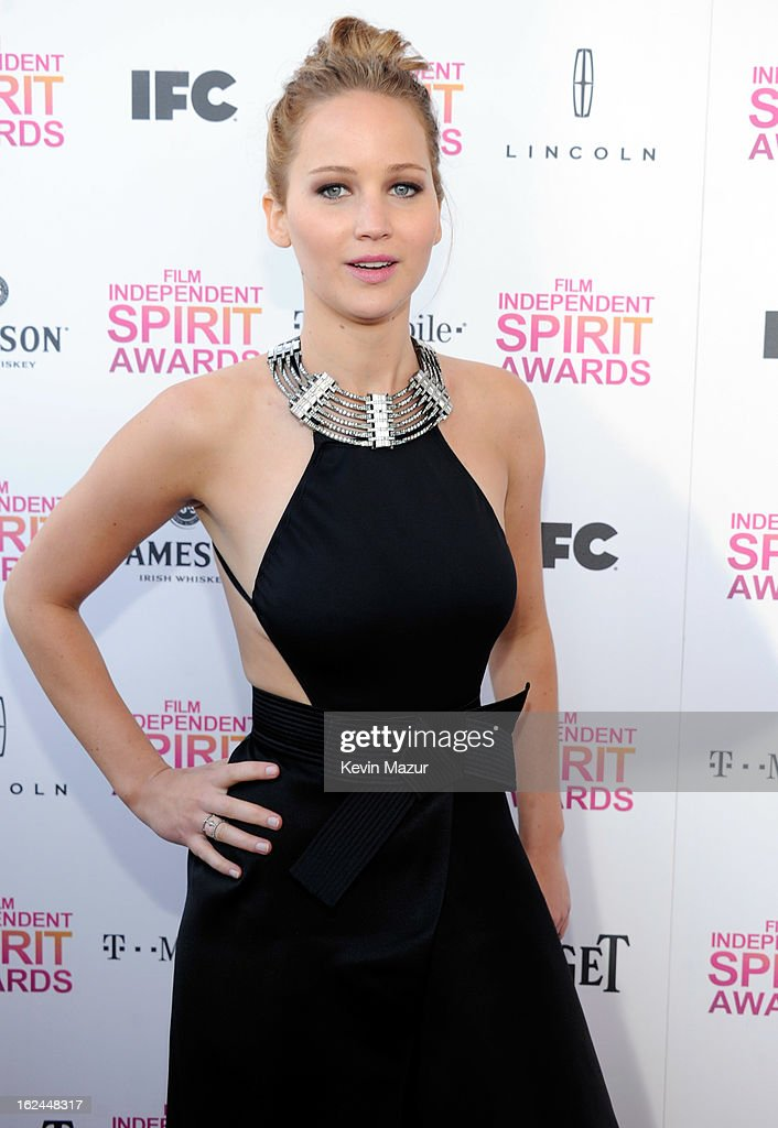 Jennifer Lawrence attends the 2013 Film Independent Spirit Awards at Santa Monica Beach on February 23, 2013 in Santa Monica, California.